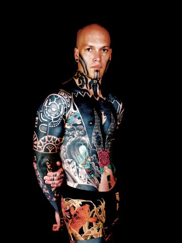 To this day, tattoos have never been more popular. They may have lost much of their traditional cultural significance but are developing a boundary-crossing modern culture of their own. Jack Mosher, a tattooist, shows off his lavish body art.