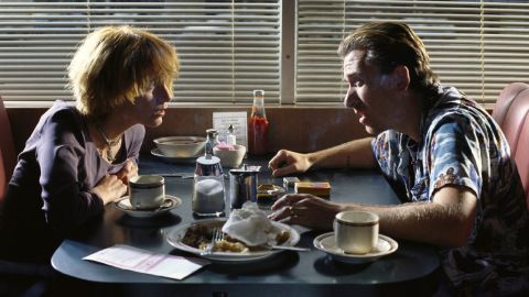 """Tim Roth and Amanda Plummer play robbers Ringo and Yolanda, aka """"Pumpkin"""" and """"Honey Bunny,"""" whose run-in with Jules and Vincent is pivotal."""