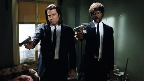 """Say what one more time! From its premiere at the Cannes Film Festival in May 1994, """"Pulp Fiction"""" has been a treasure-trove of quotes, a fan favorite and a star vehicle for John Travolta and Samuel L. Jackson, who play Vincent Vega and Jules Winnfield, respectively. Here's a look back at some of the film's memorable scenes:"""