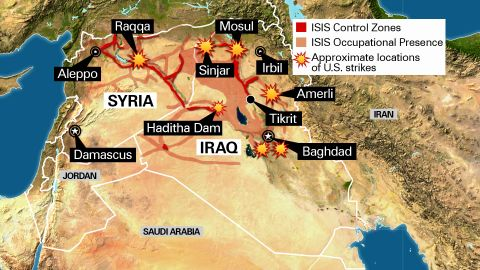 Map: U.S. airstrikes in Syria