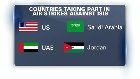 Countries taking part in airstrikes