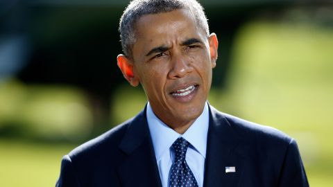 """Obama, speaking at the White House on September 23, addresses the ISIS airstrikes. """"The strength of this coalition makes it clear to the world that this is not America's fight alone,"""" Obama said."""