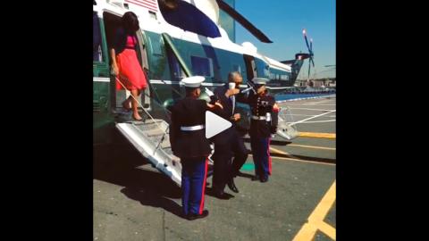 President Barack Obama's less-than-formal salute, shown here on Instagram.