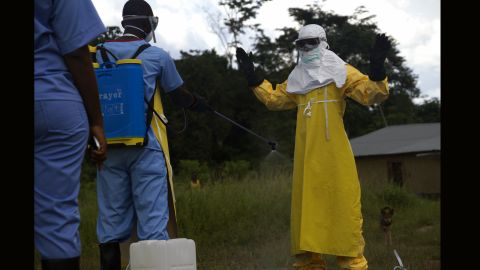 Nearly 12,000 liters of chlorine are required each day to disinfect the Ebola Treatment Unit and its staff.