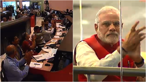 India's space agency and Prime Minister Narendra Modi cheer the Mars mission.