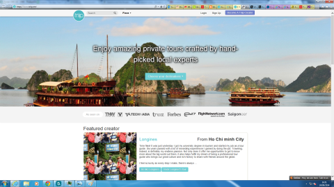 """Customizing travel itineraries used to be the work of travel agents, but Triip puts it in the hands of spirited amateurs who can design and sell trips they've put together themselves. """"It brings the Airbnb concept to local tours and tour guides in Vietnam, allowing anybody with a tour idea to create their own package and sell to interested tourists,"""" says Wong."""