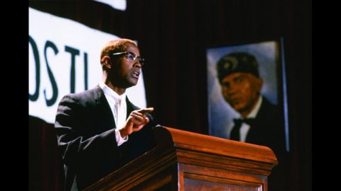 """<strong>""""Malcolm X"""" (1992)</strong>: Get into a conversation about Academy Award injustices, and Washington's portrayal of iconic historical figure Malcolm X is sure to come up. The actor filled the role with passion but delicate nuance, leading to his third Oscar nomination and first in the lead actor category."""