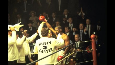 """<strong>""""The Hurricane"""" (1999)</strong>: When you need an actor who can fully inhabit a legend and bring to light that figure's humanity, you turn to Washington. The actor's star turn as boxer Rubin """"Hurricane"""" Carter won him a fourth Oscar nod."""