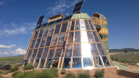 Earthships are positioned to absorb maximum sunlight for both heat and energy generation indoors.