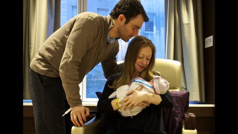 """""""At 7:03 PM on September 26th, we finally met Charlotte. We're in love,"""" Chelsea Clinton said from her Twitter account. The infant was born in New York."""