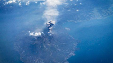 Japan's Mount Sakurajima erupts in September 2014. It was the second volcano in two days to erupt in Japan.