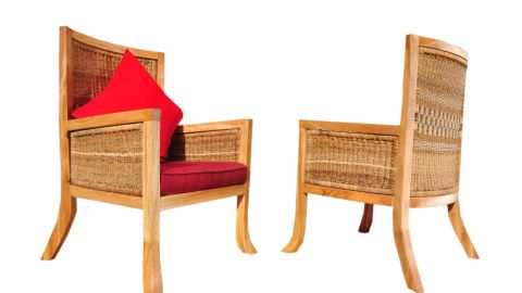 The designer incorporates the rope into several of her creations, including beds and chairs.