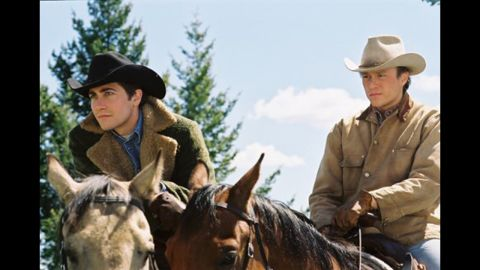 """<strong>""""Brokeback Mountain"""":</strong> Director Ang Lee, aided by a laconic script from Diana Ossana and Larry McMurtry, turned Annie Proulx's short story about the forbidden love between two Wyoming cowboys into a deeply affecting film. Jake Gyllenhaal and Heath Ledger (especially Ledger) earned raves for their performances, and both Lee and the screenwriters won Oscars."""
