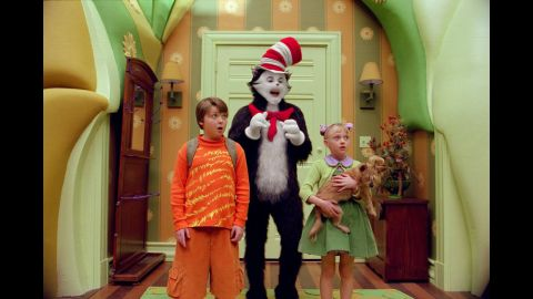 """<strong>""""The Cat in the Hat"""":</strong> Dr. Seuss' beloved children's book inspired a less-beloved, live-action 2003 movie with Mike Myers as the titular feline. To pad the slender book into a feature-length film, its creators added potty humor and subplots, including one with Alec Baldwin as a weaselly neighbor."""
