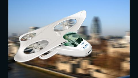 An artist's impression of the MyCopter personal aviation vehicle. The European Union wants to make the dream of a flying car a reality, researching the feasibility of small commuter air vehicles to ease the world's traffic congestion.