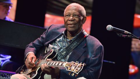 B.B. King performs during the April 2013 Crossroads Guitar Festival at New York City's Madison Square Garden.