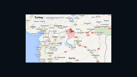 Map: Kobani (Ayn al-Arab)