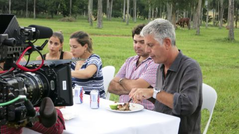 Bourdain heads to a sprawling ranch outside Asuncion for a typical weekend asado, or barbecue.