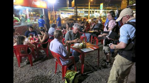 Back in Asuncion, Bourdain and Peter head to to Lomilitos for greasy Paraguayan street food.