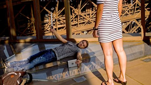 A new glass floor was unveiled at the Eiffel Tower in October, instantly becoming a hit with selfie takers.