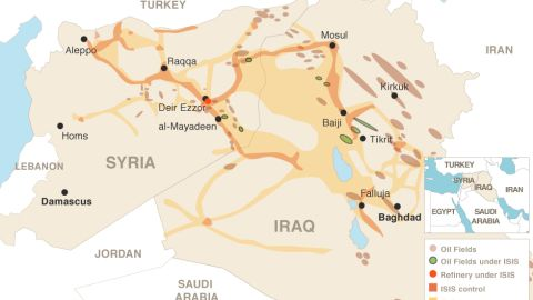 Oil and land: What ISIS controls