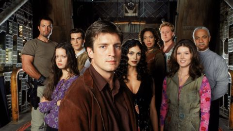 """Fans of Joss Whedon's """"Firefly"""" have been begging for a reboot of some sort since the drama went off the air in 2003. Nathan Fillion, center, now stars on ABC's """"Castle."""""""