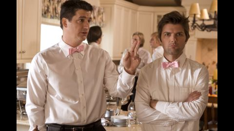 """The cast members of """"Party Down,"""" including Ken Marino, left, and Adam Scott, have been hard at work on their respective film and TV projects since the Starz series was canceled in 2010. Despite low ratings, the comedy received rave reviews."""