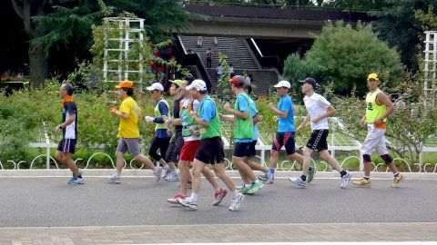 Tokyo's Yoyogi Park is open 24 hours a day, making it a popular destination for post-work runs.