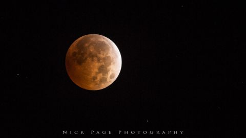 """It was the first time <a href=""""http://ireport.cnn.com/docs/DOC-1177339"""">Nicholas Scott Page</a> from Dayton, Washington, saw the blood moon.""""I stayed up in April to try and catch the last eclipse but cloud cover spoiled my plans to photograph it,"""" he said."""
