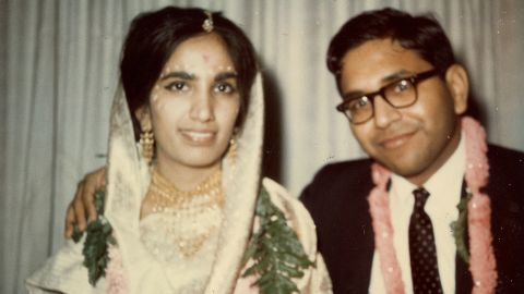 """Gupta's parents are seen on their wedding day in Detroit. They met in Michigan. """"It was the mid-1960s, and almost all Indian weddings were arranged,"""" Gupta said. """"My parents, however, will tell you they got married because of love. It is how they live their lives and what they taught their two sons."""""""
