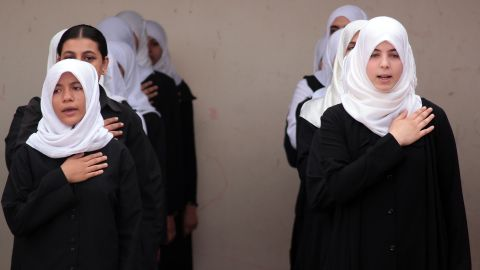 """Theresa Corbin, who converted to Islam at age 21, chooses to wear the hijab, or head scarf. Other Muslim women around the world wear various garments as part of their faith. Click through the gallery to learn more about them, and read<a href=""""http://www.cnn.com/2014/10/14/opinion/muslim-convert-irpt/"""" target=""""_blank""""> Corbin's story</a> to discover why they are worn. <br /><br />The hijab, pictured here, is one of the most common items worn by Muslim women. The scarf typically covers the hair, neck and chest but not the face."""