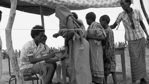 Refugees are registered in Somalia in November 1981. The Nobel Peace Prize that year was awarded to the United Nations' refugee agency, the Office of the United Nations High Commissioner for Refugees.