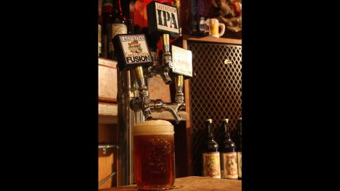 Lagunitas' Fusion 24 is a dry-hopped red ale, and surprisingly easy to drink. (5% ABV)