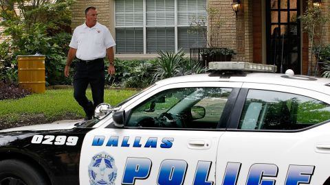 DALLAS, TX - OCTOBER 12: G.C. Williford, Battalion Chief for the Dallas Fire Department, walks past a barrel containing waste material that was removed from the apartment where a second person has been diagnosed with the Ebola virus on October 12, 2014 in Dallas, Texas. A female nurse working at Texas Heath Presbyterian Hospital, the same facility that treated Thomas Eric Duncan, has tested positive for the virus. (Photo by Mike Stone/Getty Images)