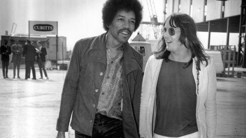 Hendrix was already tired of being a rock star when he died. What musical direction would he have taken had he lived? Some say he would have embraced jazz fusion, others say funk music. The theories are tantalizing. Imagine Hendrix playing with the fusion bassist Jaco Pastorius. Here, Hendrix arrives in London with his tour manager just two weeks before Hendrix's death.