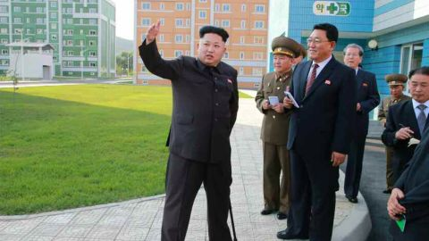 State media in North Korea release new photos of leader Kim Jong-Un walking with the aid of a walking stick.