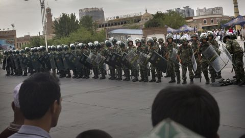 China has increased security in many parts of its restive Xinjiang province in recent years.