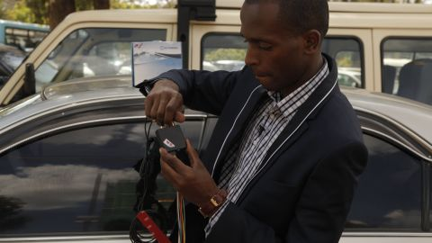 """Macharia decided to start a security business after one of his relatives had his car stolen. """"It was unfortunate we were not able to recover the vehicle."""" he said. """"And I thought I could come up with a way to track it."""""""