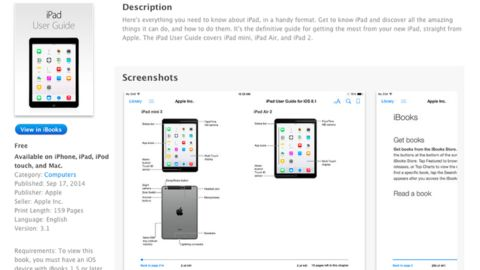 Screen shots from an Apple guide showing details about new iPads appeared early in iTunes.