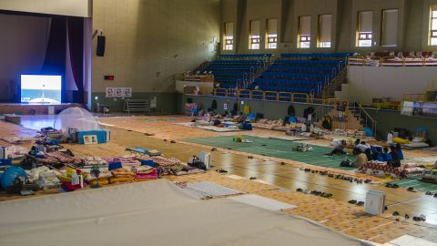 The families of the ten who remain missing have been waiting in Jindo Indoor Gymnasium since the first day. Families can watch search mission in real time on a large monitor in the gym.