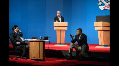 Ronald Klain preps Obama for a foreign policy debate in Nevada in 2012.