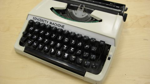 """By altering a typewriter to type letters in one of the Internet's most despised fonts, designer Jesse England wants to provoke thoughts about how we """"consume and generate media."""""""