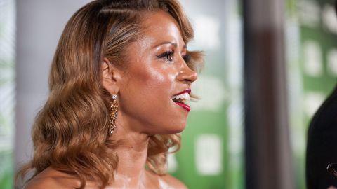 Actress Stacey Dash arrives at Fox channel's 2014 Emmy award nominee celebration on August 25, 2014, in Los Angeles.