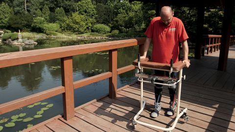 Darek Fidyka, the polish firefighter paralyzed after being stabbed, is learning to walk again.