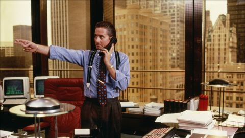 """Why is it that we all want more confidence when there are so many stories of hubris leading to downfall? Just look at the movies. Take """"Wall Street"""" sleaze Gordon Gekko (pictured). The stockbroker's """"greed is good"""" motto wins him millions but when it gets out of control his illegal activities soon catch up with him."""