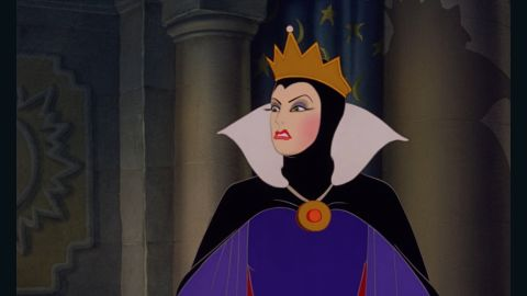 """Confidence can cause delusion and what finer example of that than The Queen in """"Snow White and The Seven Dwarfs."""" Her evil plan to kill Snow White and become the """"fairest of them all"""" inevitably fails. Sometimes it's best to admit that we can't have it all."""