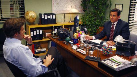 John Krasinski and Steve Carell in 'The Office'