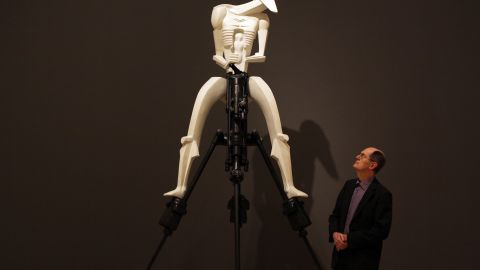"""Jacob Epstein's 1913 sculpture """"Rock Drill"""" glorified an inhuman mechanization and anticipated even the battle droids from the Star Wars franchise's prequel, """"The Phantom Menace,"""" at the century's end."""