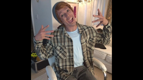 """No whiteface, either! Actor and TV host Nick Cannon dressed up as a character he called """"Connor Smallnut"""" for a series of videos. Tweeters objected that the caricature was """"racist"""" and """"hypocritical."""""""