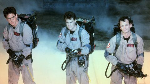 """At the time it was released, 1984's """"Ghostbusters"""" was the highest-grossing comedy in history -- and, adjusted for inflation, it still is. Murray, right, with Ramis and Dan Aykroyd, center, took a role originally intended for John Belushi and made it his own."""